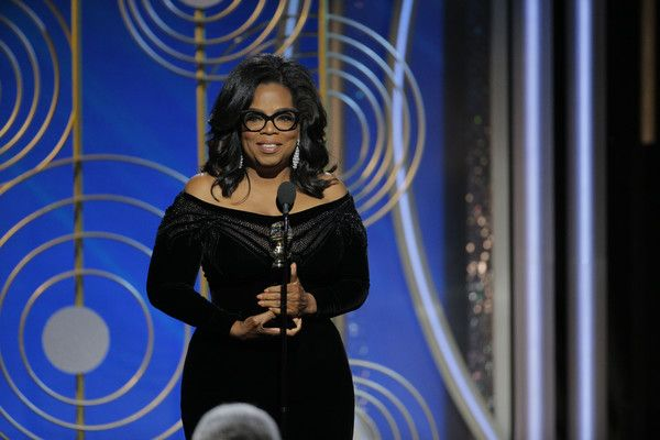 Oprah Winfrey Photos - In this handout photo provided by NBCUniversal, Oprah Winfrey accepts the 2018 Cecil B. DeMille Award   speaks onstage during the 75th Annual Golden Globe Awards at The Beverly Hilton Hotel on January 7, 2018 in Beverly Hills, California. - 75th Annual Golden Globe Awards - Show
