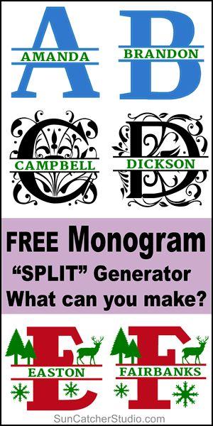 Download Split Monogram Svg Maker - Free Layered SVG Files ...
