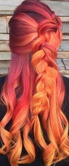Sunset inspired hair