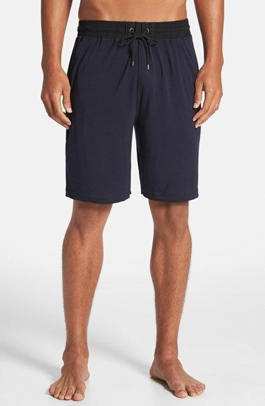 $88, Navy Shorts: Daniel Buchler Modal Silk Stretch Shorts. Sold by Nordstrom. Click for more info: http://lookastic.com/men/shop_items/66296/redirect