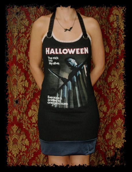Halloween Dress horror Movie Shirt M XL by kittyvampdesigns