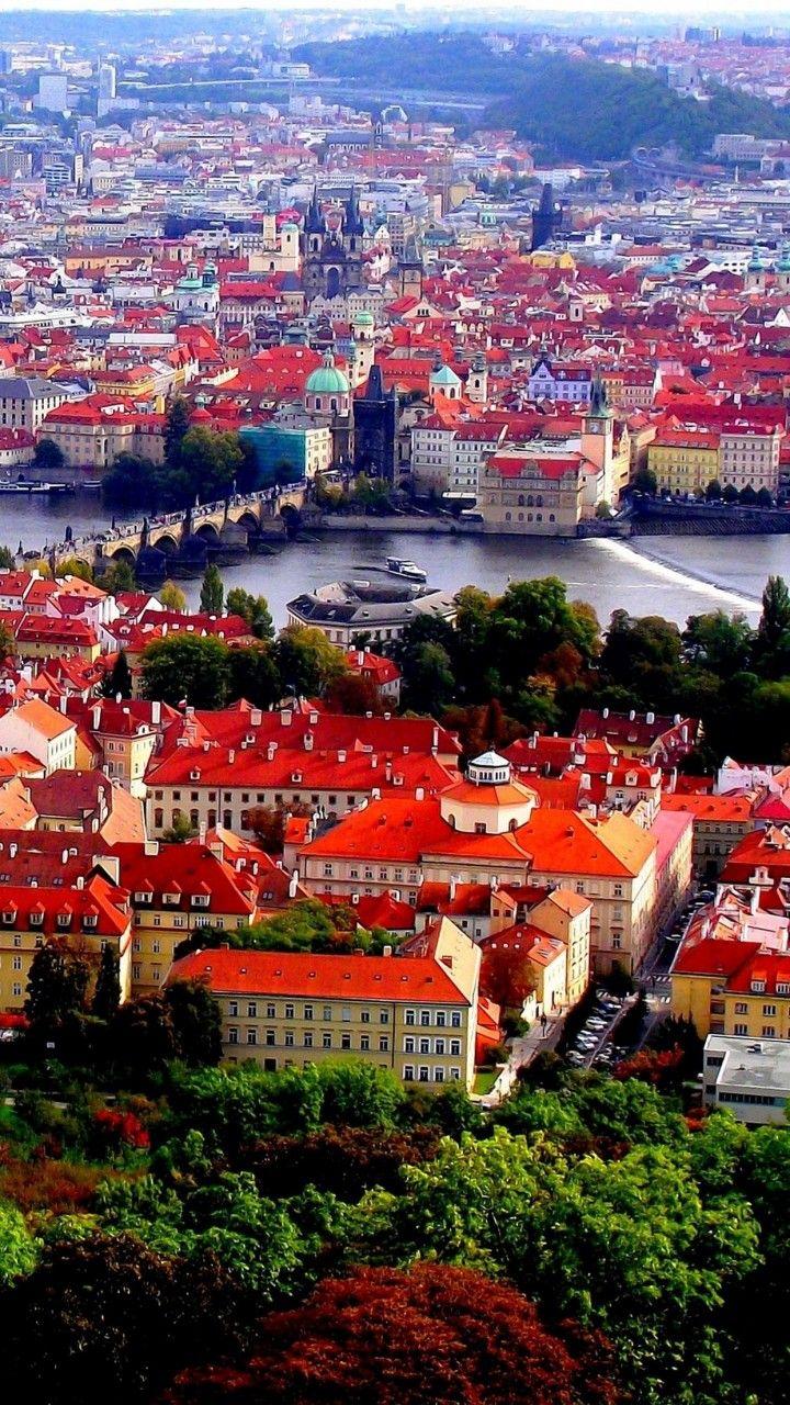 Vista desde el mirador del Monasterio de Strahov de la ciudad de Praga, República Checa.