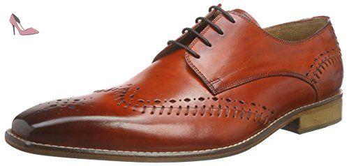 Melvin & Hamilton  Clark 1, Derby homme - Orange - Orange (Baby Brio Orange, LS), 45 - Chaussures melvin hamilton (*Partner-Link)