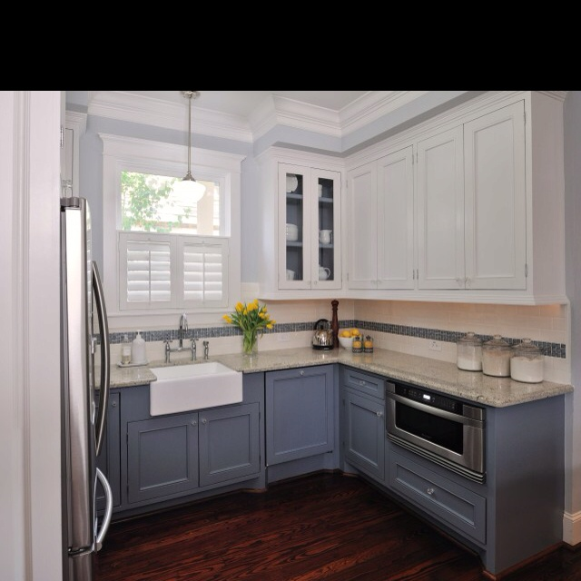 1000 images about kitchen renovation on pinterest l for Small upper kitchen cabinets