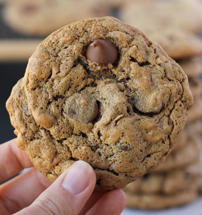 Flourless Oatmeal Almond Butter Chocolate Chip Cookies {Gluten-Free}   Meaningful Eats -sub sugar with dates or xylitol