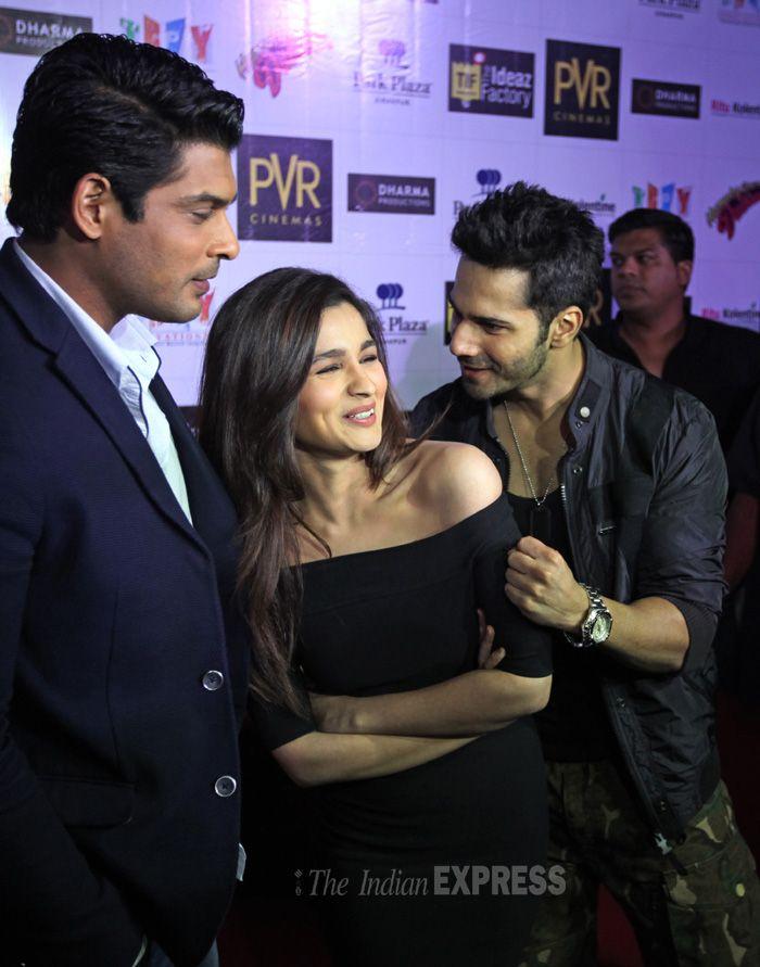 Varun Dhawan and Alia Bhatt during the promotions of 'Humpty Sharma Ki Dulhaniya' in Chandigarh with Siddharth Shukla.