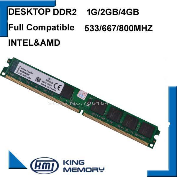 Für Intel und für AMD DDR2 800 667 533 Mhz-1 Gb 2 Gb 4 Gb/memoria ram ddr2 4 Gb 800 Mhz single/ddr2 2 gb PC2-6400 speicher RAM