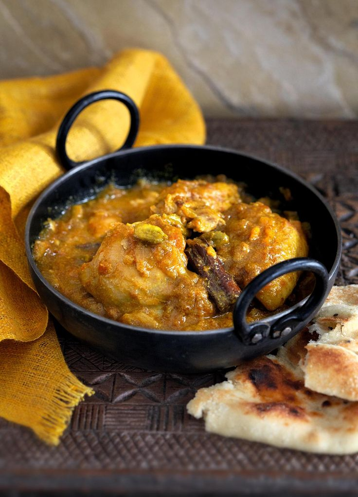 Chicken Curry with Cardamom from Madhur Jaffrey's Curry Easy. A gentle, family-style curry. If you leave out the cayenne pepper, this may even be served to small children. Serve with rice. http://thehappyfoodie.co.uk/recipes/chicken-curry-with-cardamom