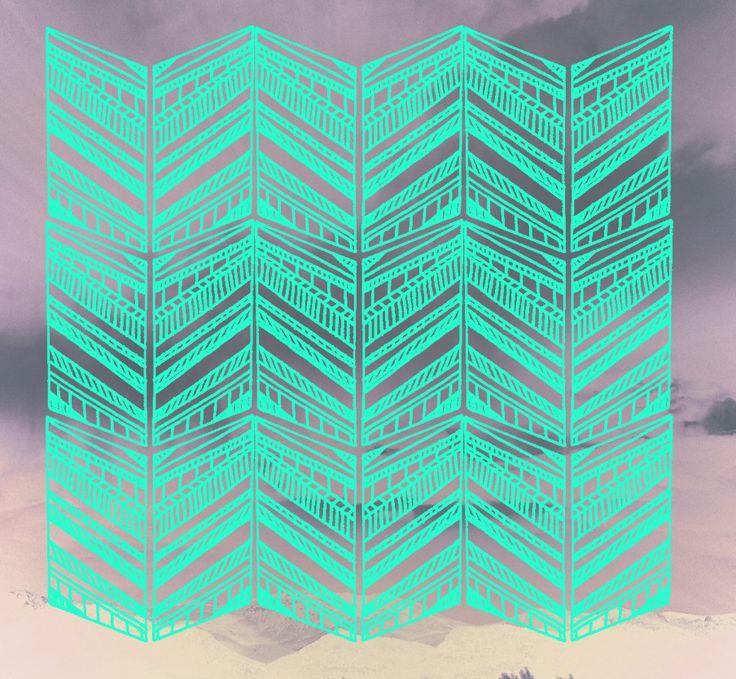 Karina Manarin. Pattern a day.: Geometric Chevron, Chevron Patterns, Geometric Patterns Art, Graphics Design, Chevron Art Design, Tribal Prints, Design Idea, Chevron Prints, Tribal Patterns