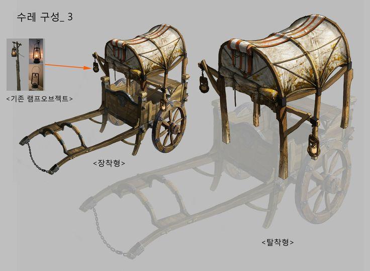 수레_04, KKS ~ on ArtStation at http://www.artstation.com/artwork/wagon-c7c8caf6-904b-414f-927c-03f8a60f2593