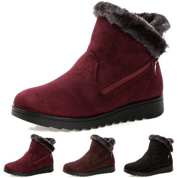 Warm Gefüttert Stiefel Schneeschuhe Winterboots Stiefeletten Schuhe