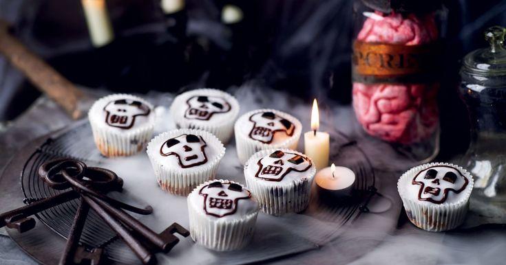 muffins tête de mort à la réglisse et au chocolat #halloween