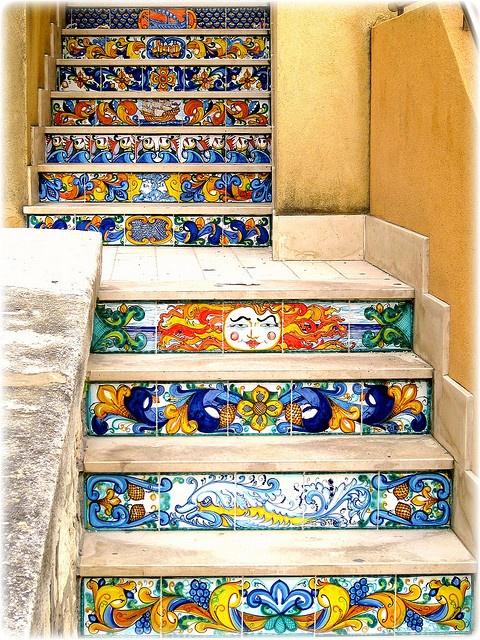 Sciacca's stairs - Ceramics
