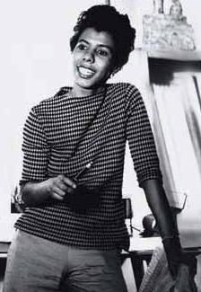 Lorraine Hansberry's best known work was A Raisin in the Sun.  In 1957 she joined the lesbian organization Daughters of Bilitis and contributed letters to their magazine, The Ladder, that addressed feminism and homophobia. While she addressed her lesbian identity in the articles she wrote for the magazine, she wrote under the initials L.H. for fear of being discovered as a black lesbian.