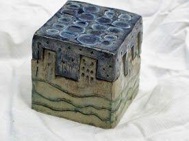 Ceramic box - simple interlocking design www.potterypup.com