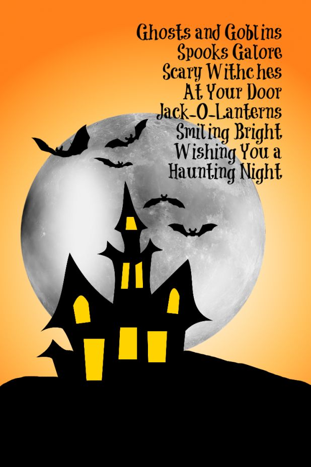 Would be cute on the chalkboard-Halloween Poem Printable