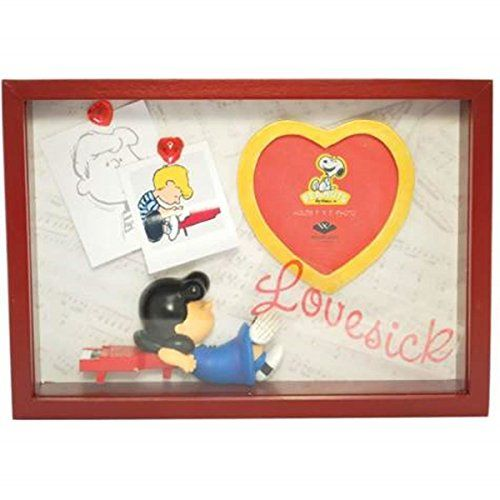 WL SSWL20721 Peanuts Lucy Leans Lovesick Themed Shadow Box Picture Frame ** This is an Amazon Affiliate link. For more information, visit image link.
