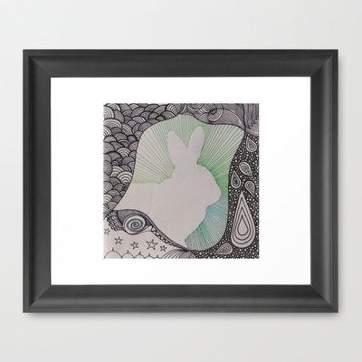 My beautiful Bunny framed x
