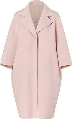 $2350.0 Jil Sander Blush Oversized Wool Coat