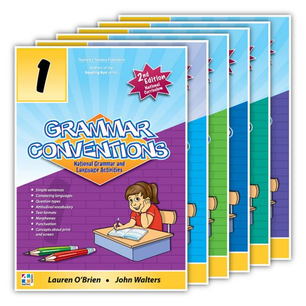 Grammar Conventions. Grammar Conventions is an exciting and innovative series devised to assist in the teaching of grammar towards the National Curriculum. http://www.educationstore.com.au/catalogue/english/grammar-conventions