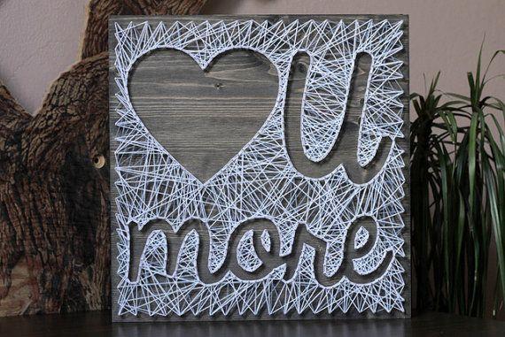 air jordan ajko String art Love U More Customizable Wall hanging Wooden decoration      x     white on Etsy