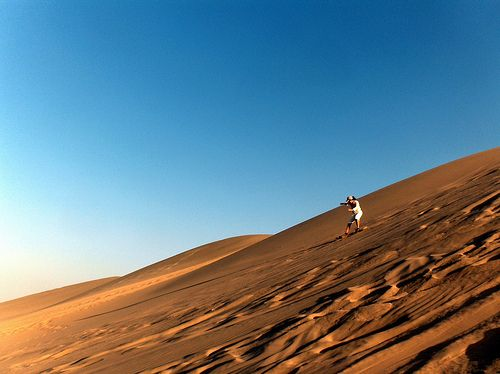 Feel the Sands of Atacama Desert Where the driest and oldest desert on earth meets adventure, San Pedro de Atacama is the starting point to explore the majestic Valley of the Moon, a valley where gigantic dunes and rocks abound. If you dare, take a sand-boarding trip to the dunes of the Death Valley!