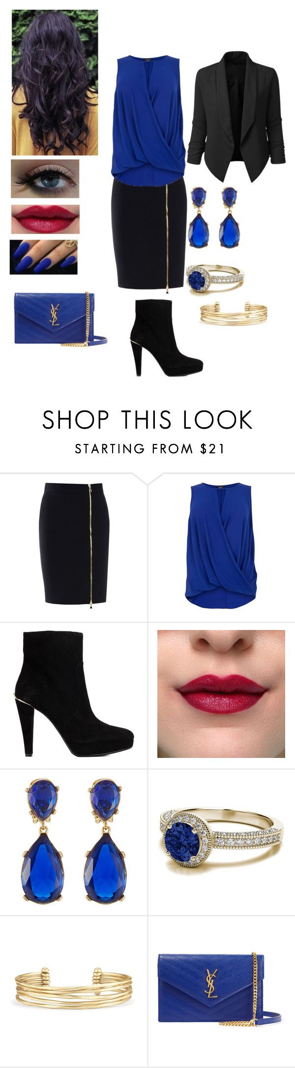 """""""It's all about Business"""" by jujuxx33 ❤ liked on Polyvore featuring Boutique Moschino, MICHAEL Michael Kors, Kenneth Jay Lane, Stella & Dot, Yves Saint Laurent and LE3NO"""