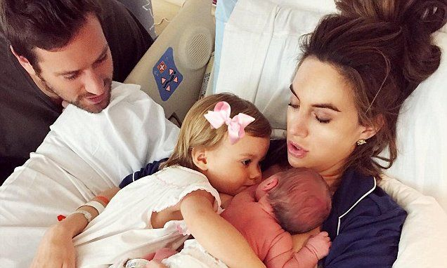Armie Hammer and his wife share the first photo of their newborn