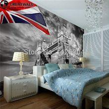 Grote muur moderne mode behang gepersonaliseerde 3d wallpapers mural britse stijl slaapkamer tv achtergrond muurschildering wallpaper 3d(China (Mainland))