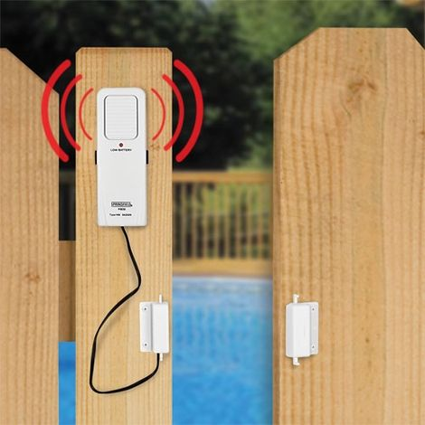Pool Gate Alarm- good for babygate too. know if someones opening the door & 31 best Pool Alarms - The Pool Factory images on Pinterest | Pools ...
