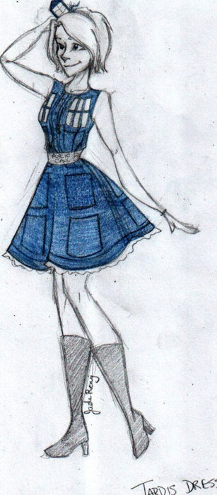 TARDIS dress<<< this is cool because she actually looks a bit like me!!