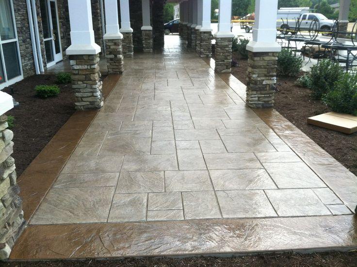 Pretty Stamped Concrete Patio method Other Metro Traditional Patio Decorators with ashlar border decorative stamp concrete