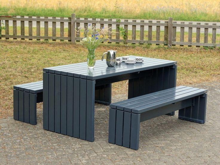 Gartenmöbel Set / Gartentisch 1 Holz, Farbe: Anthrazit Grau, wetterfestes Holz - Douglasie, in vielen Größen und Farben erhältlich. Jetzt im Online-Shop bestellen!