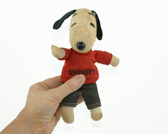 Vintage Snoopy Doll Rare Snoopy Toy 1968 Plush by BygoneVera