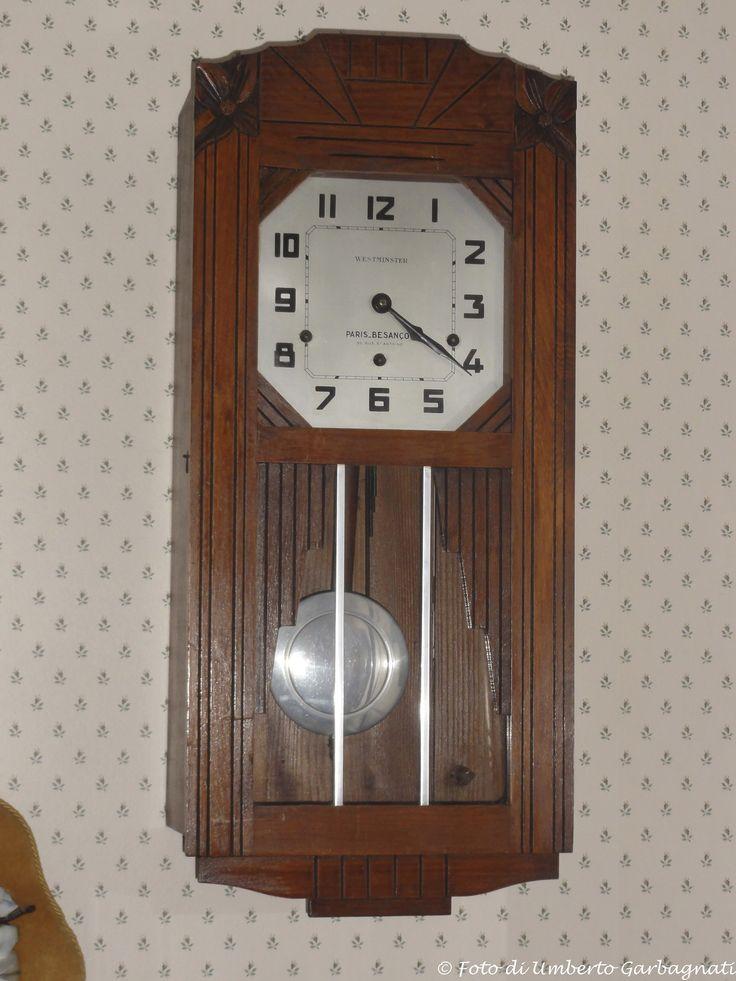 """.... orologio a pendolo """"VEDETTE - WESTMINSTER"""" (Paris-Besancon (F) - anni '30 - © Umberto Garbagnati -"""