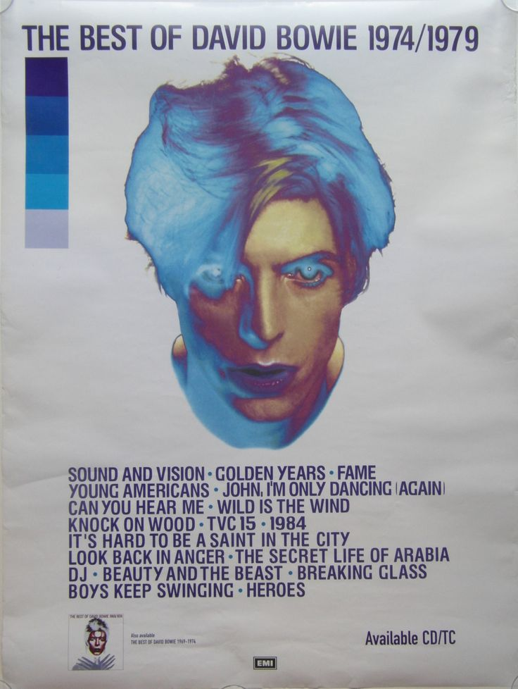 Original David Bowie Promotional Poster for the album The Best of David Bowie 1974-1979