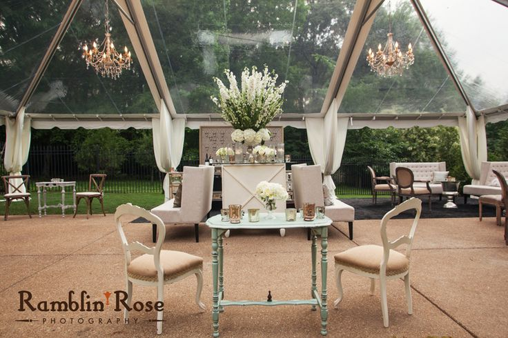 Garden Wedding Reception By Southern Event Planners Memphis Weddings