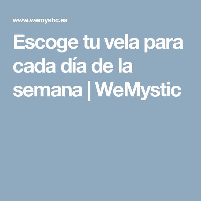 Escoge tu vela para cada día de la semana | WeMystic