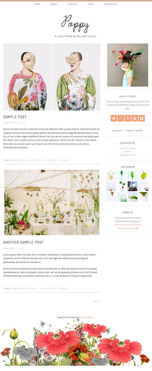 Minimal Responsive Premade Wordpress Theme Blog by thewebchariot, $40.00