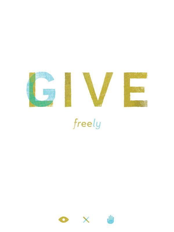 More than ever before : Live freely; GIVE freely. #MTH2013 :: Goal Setting for 2013