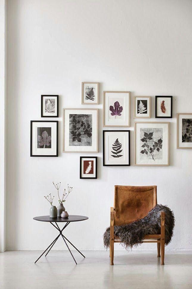 Trend 2015: botanische prints, hier afgebeeld passend binnen een Scandinavische stijl.