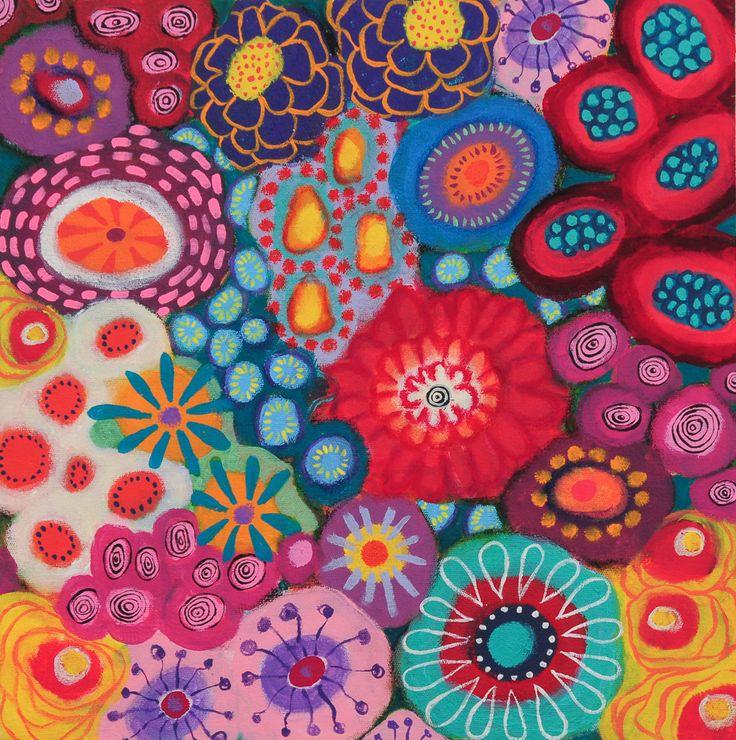 40cm x 40cm Acrylic on canvas - Liesel Malan