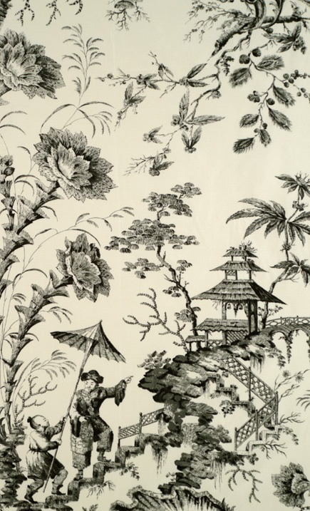 Pillement silk toile