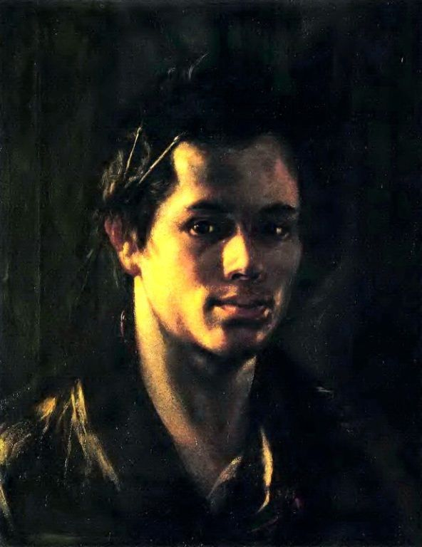О. А. Кипренский Автопортрет с кистями за ухом, 1809