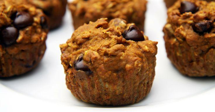 Get Baking! Oatmeal Dark Chocolate Chip Pumpkin Muffins