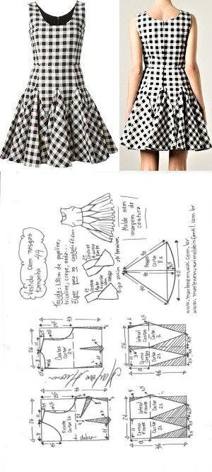 Vestido com nesgas | DIY - molde, corte e costura - Marlene Mukai