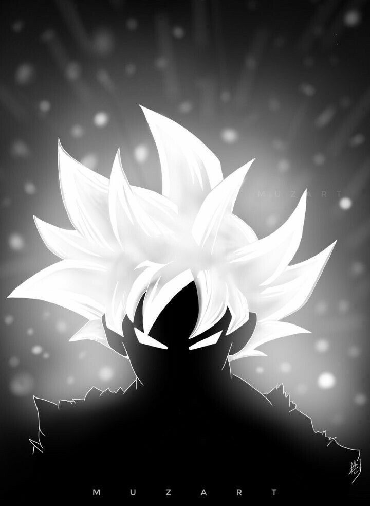 Dragon Ball Super Black And White Wallpaper
