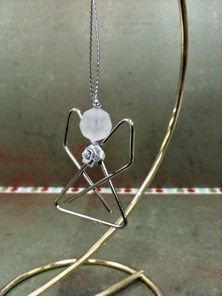 Paperclip Angel - ornament or necklace