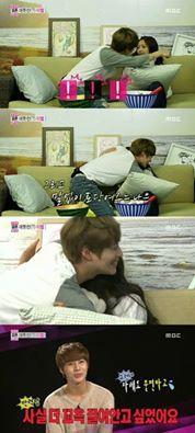 Taemin & Naeun had their first hug on 'We Got Married' ;))