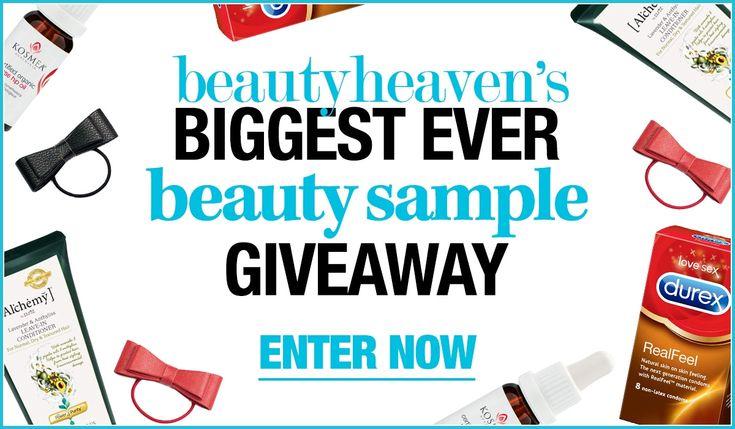 Biggest Beauty Sample Giveaway - beautyheaven